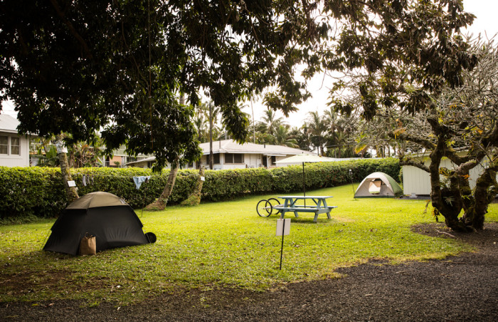 tenting campground