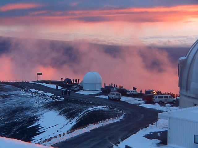 Keck telescopes on Mauna Kea in Hawaii