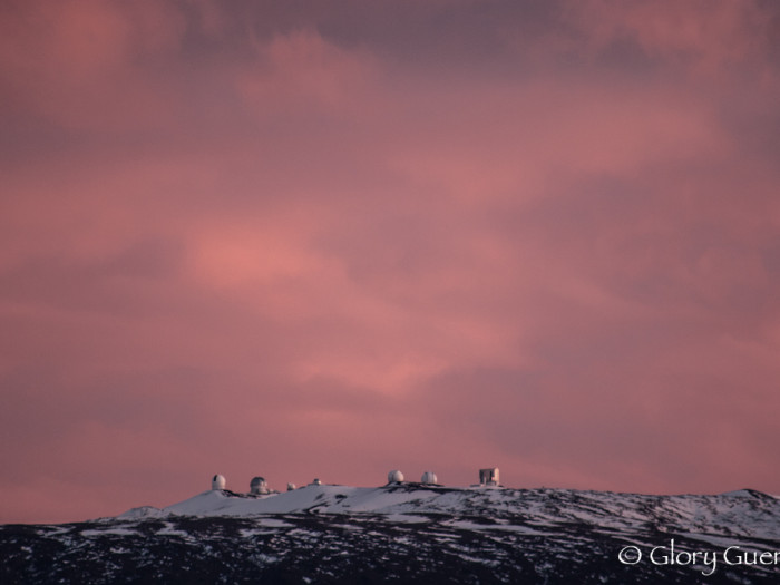 Pink Sunset on Mauna Kea
