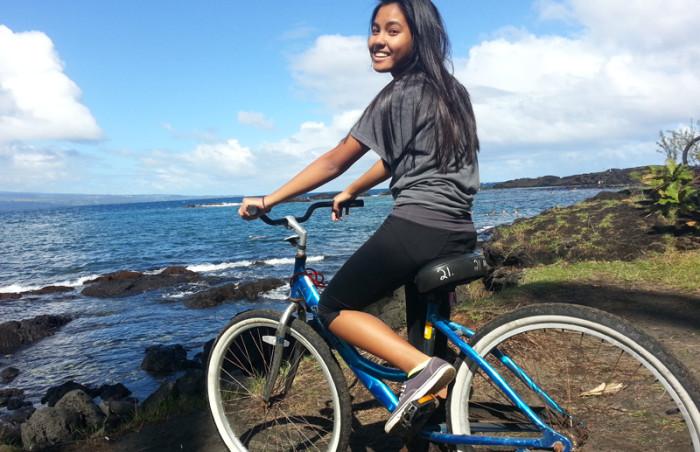 biking on Richardson's Beach Park