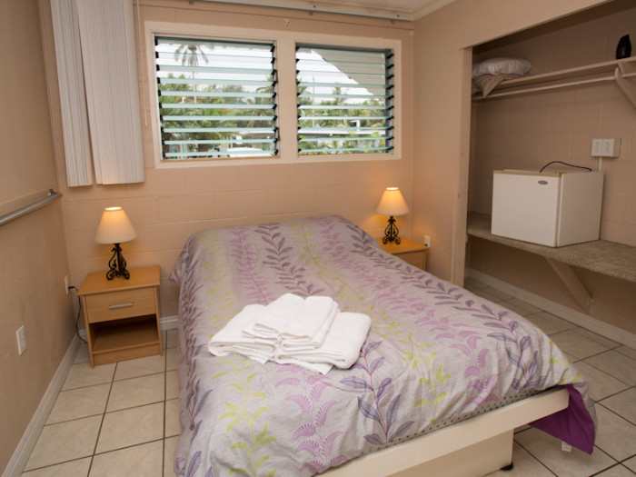 Three bedrooms with a double bed