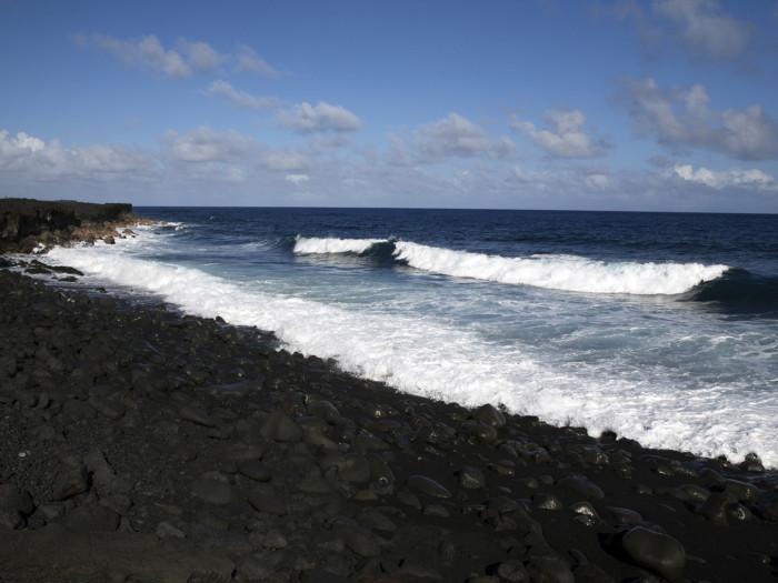 Kalapana, new black sand beach.
