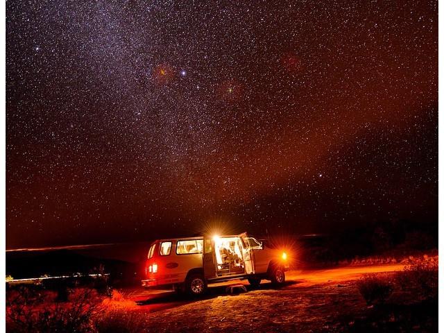 Arnott's van on Mauna Kea